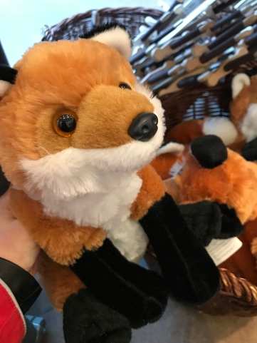 A little fox plush for the man of the hour.