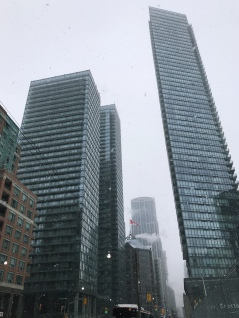 Just 24 hours after the coldest day does Toronto decide a snowstorm is appropriate during the holiday season.