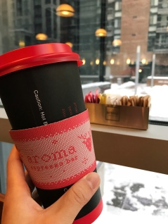 Shoutout to Aroma Espresso Bar for providing refuge during this snowstorm while I run errands in the city.