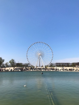 Daytime views of the Big Wheel at Place de la Concorde.