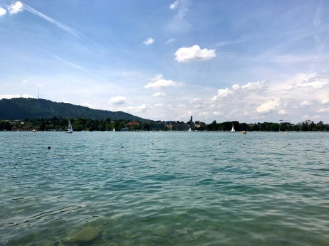 Relaxing on Zürichsee with Kohei!