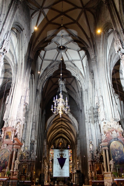 The Gothic interior is hauntingly beautiful.