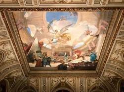 A lovely fresco when you first enter.