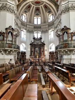 Interior of Dom zu Salzburg.