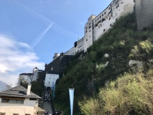 Notice the staircase to the base of the castle.